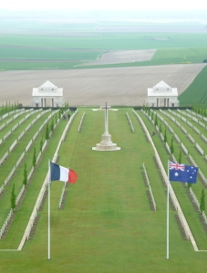 View from the tower - Villers-Bretonneux Memorial. Image courtesy S Shipard