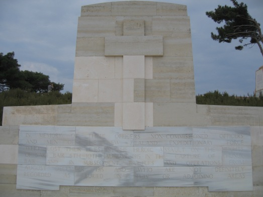 Memorial to the NZEF at Chunuk Bair Gallipoli