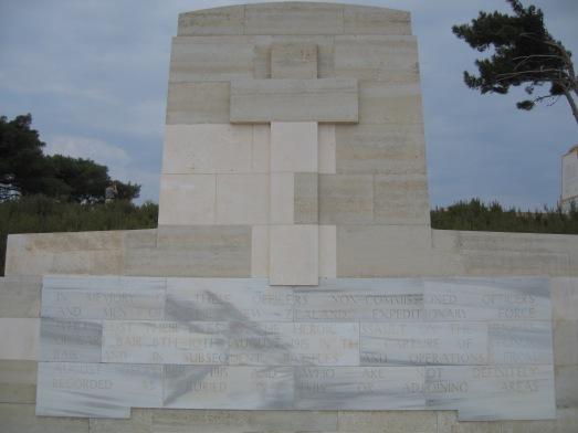 Memorial to the NZEF at Chunuk Bair Gallipoli