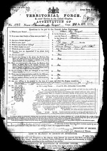 Alexander McGregor - enlistment record (first page)