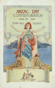 Anzac Day program 1916 AWM PROP 02060