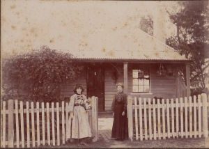 Harriet Brewster, Walter's mother, with Blanche, his sister Goulburn St Liverpool c. 1905-10