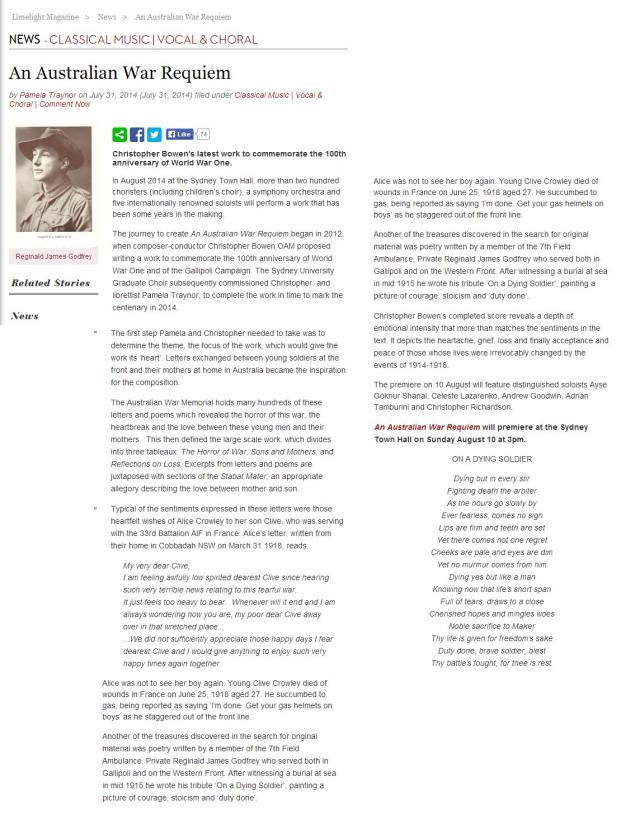 Limelight online - 31 July 2014