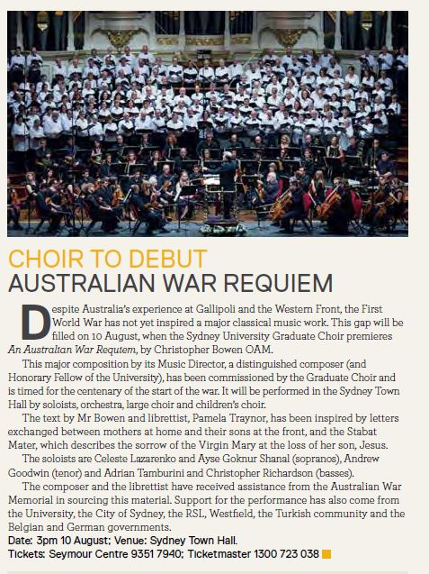 Sydney Alumni Magazine - SAM - July 2014