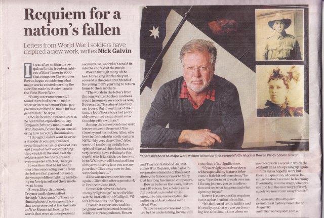 Sydney Morning Herald - 8 August 2014