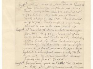 18th Battalion unit diary august 1915
