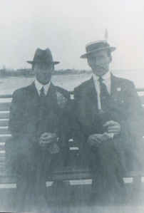 George Chesney (right) and friend, Armistice Day
