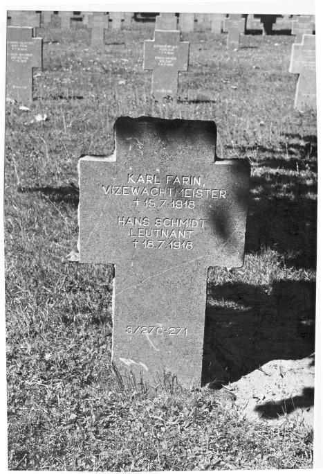 Hans Schmidt - grave - Belleau Military Cemetery